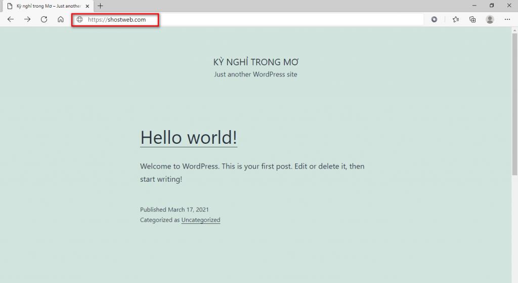Kiểm tra lại website sau khi cài đặt chứng chỉ SSL Let's Encrypt.