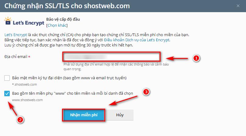 Cấp phát chứng chỉ SSL Let's Encrypt tự động.
