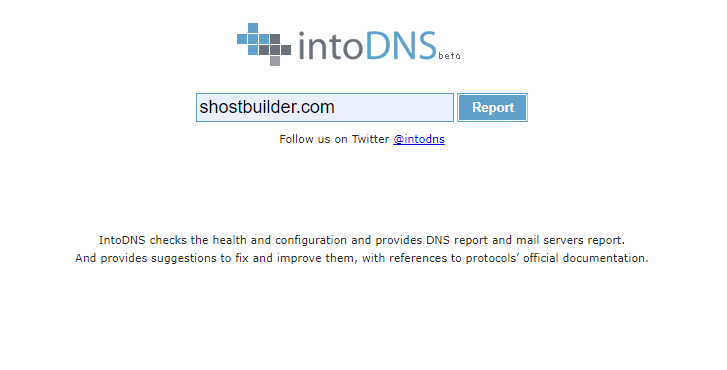 Kiểm tra trạng thái Nameserver thông qua công cụ intodns.com.