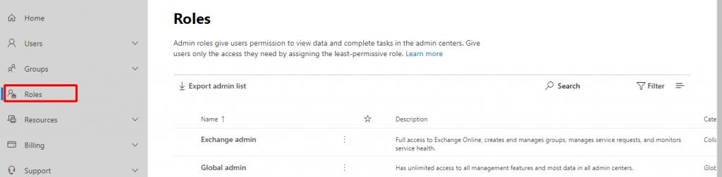 Thiết lập vài trỏ của các tài khoản Office 365.