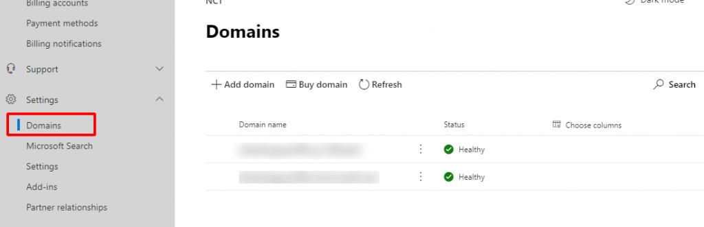 Cài đặt liên kết tên miền với Office 365.