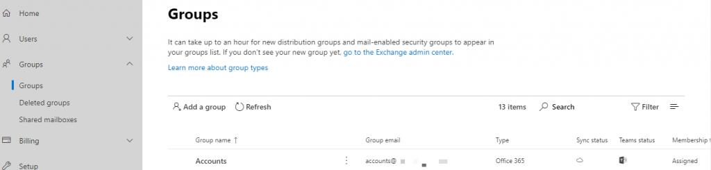 Thiết lập quản lý nhóm người dùng Office 365.