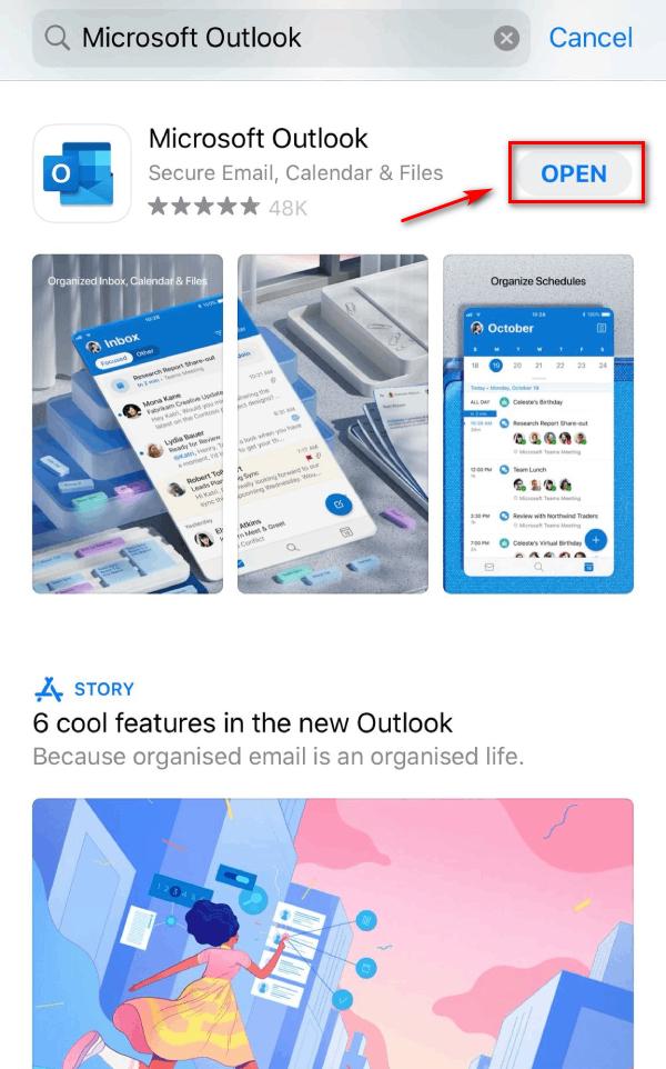 Mở ứng dụng Microsoft Outlook vừa cài đặt.