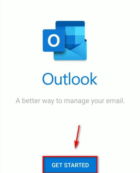 Bắt đầu ứng dụng Microsoft Outlook.