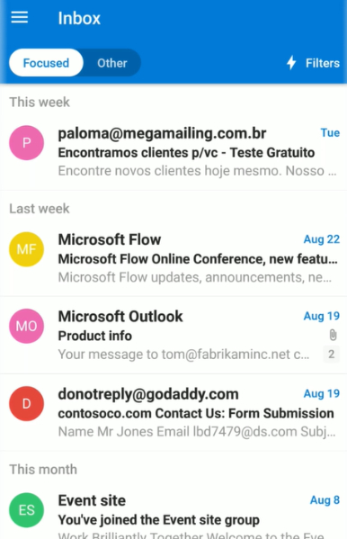 Kiểm tra email.