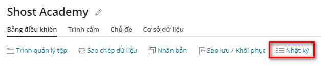 Nhật ký thiết lập WordPress Toolkit.